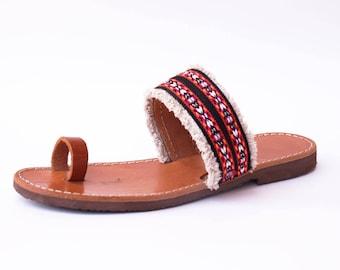 Bocho leather sandal,real leather sandal,calf leather sandal,made Greece sandal,nice gift,gift for eomen,gift for girl,summer gift,thank giv