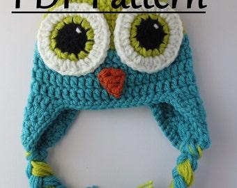 CROCHET PATTERN Owl Hat, Owl Hat, Crochet Owl Hat Pattern, Crochet Owl Pattern Hat, Crochet Hat Pattern Owl, Owl Hat Pattern, Pattern