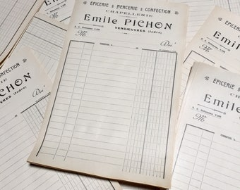 10 French Vintage Invoices