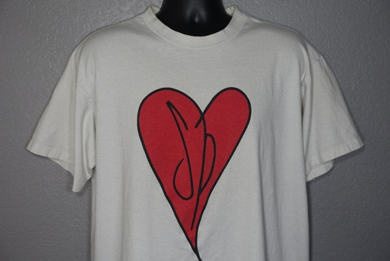 1991 - 1992 RARE Smashing Pumpkins Double Sided - Heart Logo - Gish Tour -  Giant Branded Vintage Concert T-Shirt