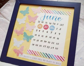 Custom Design Baby Announcement - Made to Order. Add a personal touch while sharing exciting news! May include mixed media.