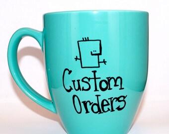 Hand Drawn Custom Mug