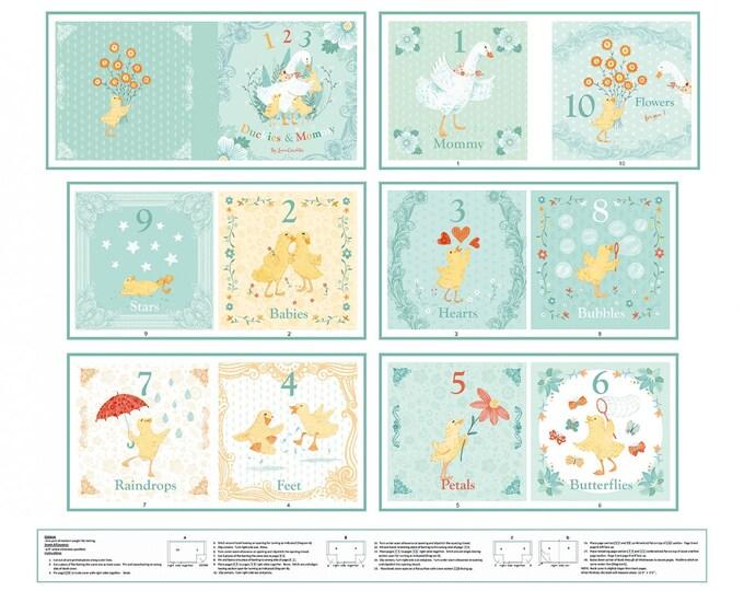 CLOTH BOOK, Ducky Tales 100% Cotton 36 x 45 inches by Lucie Crovatto for Studio E