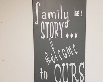 Every Family Has a Story - Canvas Wall Decor