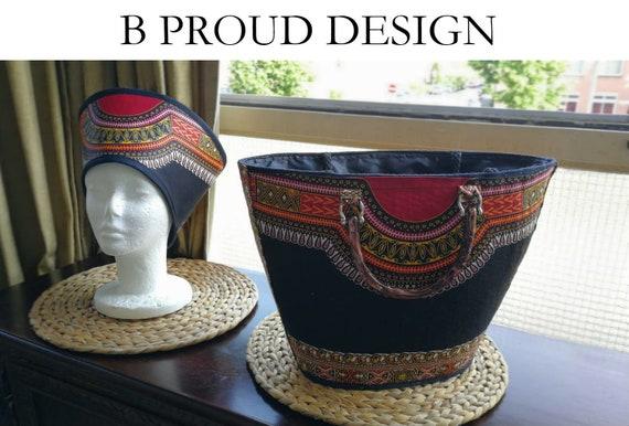 Dashiki Bag and Hat
