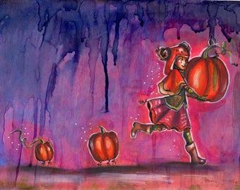 Pumpkin Run! Original piece