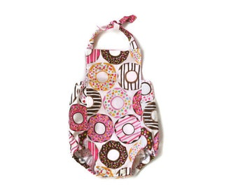 Donut Baby Girl Romper | Sprinkles + Icing | Bubble Summer Sunsuit | Doughnut Outfit | Infant, Toddler, Kids, Girl | Newborn - 24 months