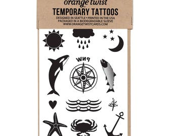 Pacific Northwest Inspired Temporary Tattoos