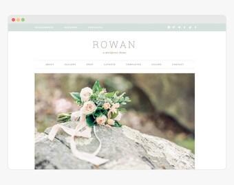 "Wordpress Theme - Wordpress Ecommerce Theme - Genesis Wordpress Website Theme - Photography Theme - ""Rowan"" Instant Digital Download"