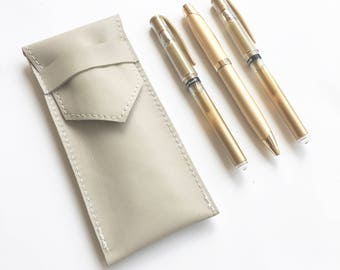 Fountain Pen Case - Light Gray - Pen Case