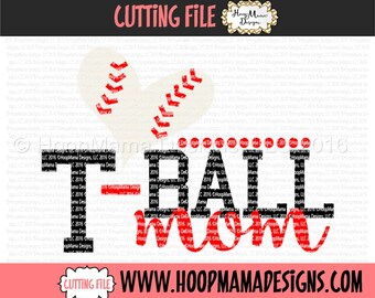 TBall Mom SVG DXF eps and png Files for Cutting Machines Cameo or Cricut Files