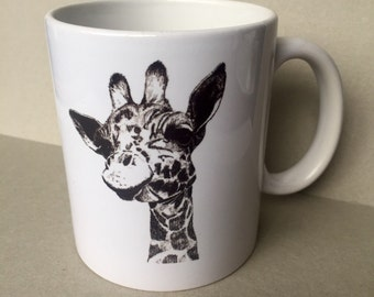 Giraffe Mug based on Original Hand Drawn Illustration