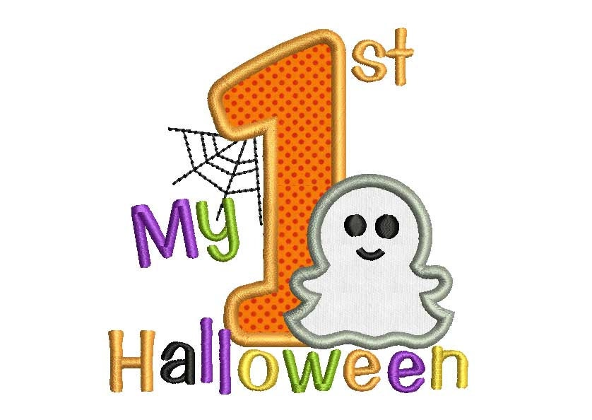 My first halloween applique embroidery design hal006 for Embroidery office design version 9