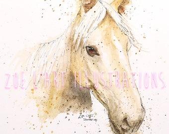 Pet Portrait, Custom Pet Portrait, Pet Illustration, Animal portrait, A5, A4, A3