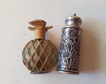 2 vintage perfume bottles