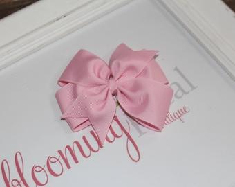 """Baby Pink Large 4"""" Pinwheel Bow"""