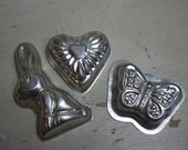 3 Vintage French Moulds -...