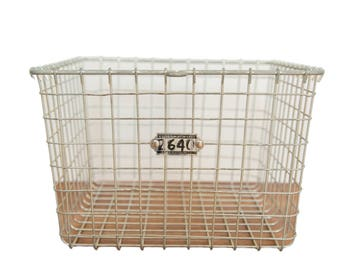 Mid Century Vintage Wire Basket