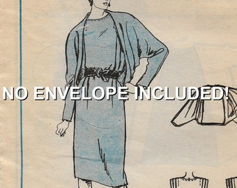 """A Sleeveless Dress & Batwing Coccon Jacket Pattern for Women: Uncut - Sizes 12-14-16 Bust 34""""-38"""" - NO Envelope Incl. • Stitch 'n Save 9409"""