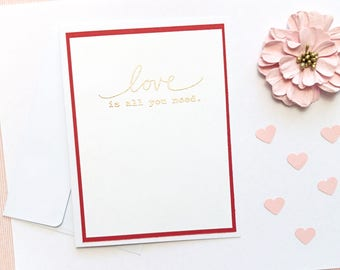 Love is All You Need: Multi-Layered Embossed Greeting Card