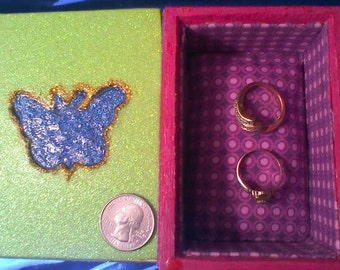 Butterfly Glitter Glue Curio Box