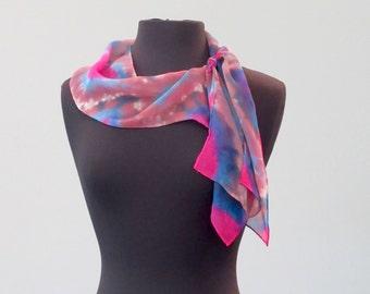 Southwest Shibori Silk Scarf