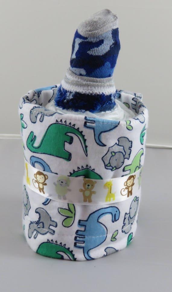 Dinosaur Diaper Bottle Baby Shower Gift