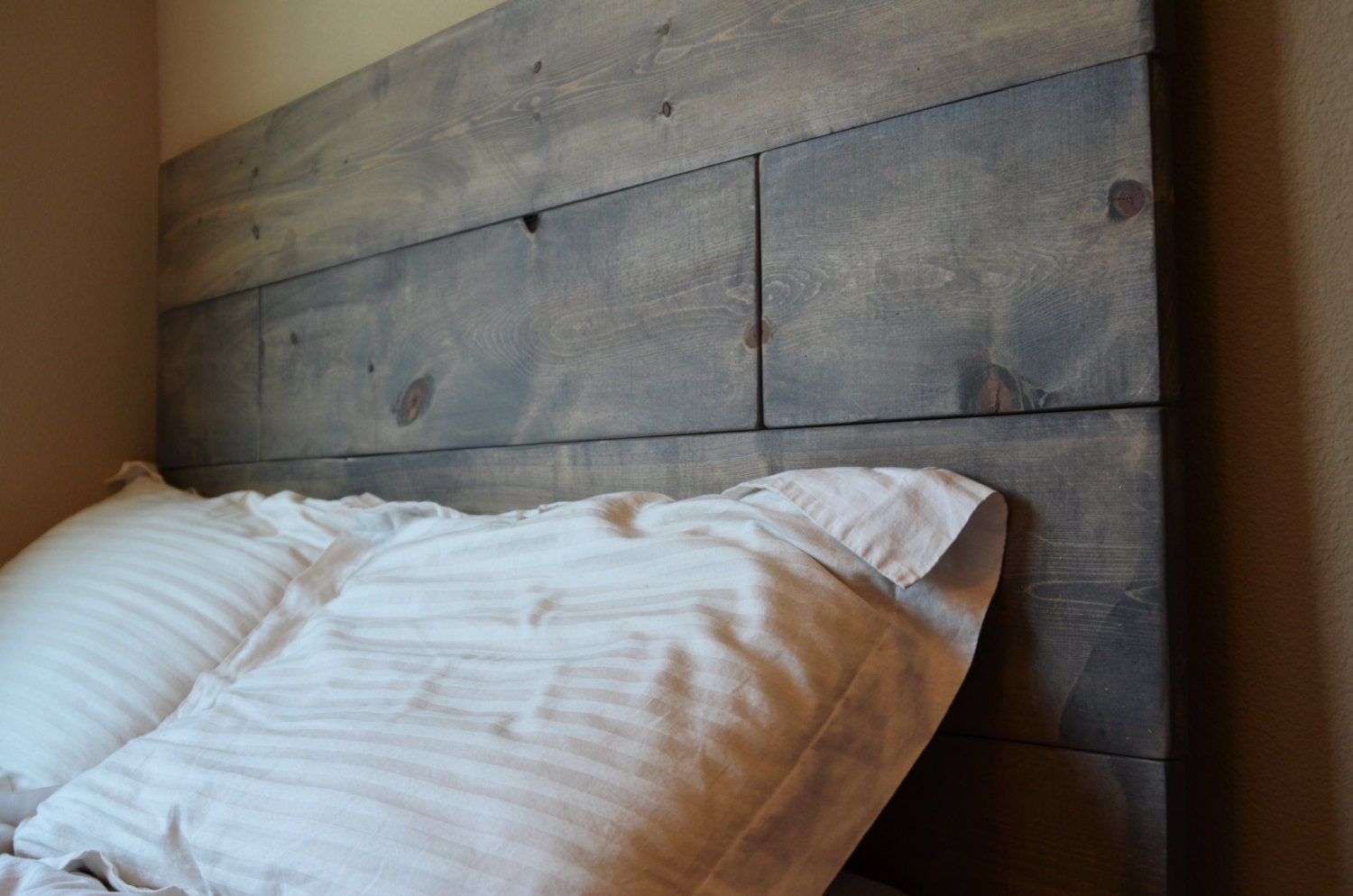 wooden bedroom headboard bookcase size rustic master build a headboards