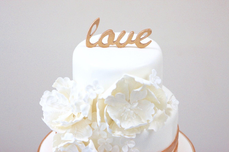 Copper Wedding Copper Wedding Cake Topper Love Cake Topper