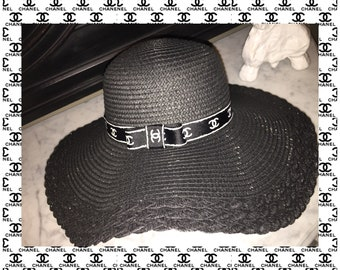 Chanel inspired floppy sun hat CC
