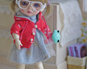 Patterns and English Instructions of HoodedJacket & Turtle neck dress for Lati Yellow