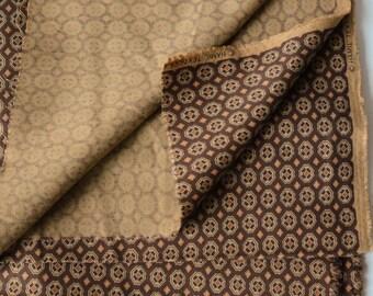Last Piece! BTY Vintage Cotton Rayon Foulard Fabric 1970s -236-L15
