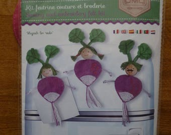 "Sewing and embroidery ""Magnets radishes"" felt Kit"