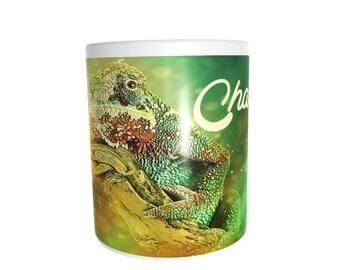 chameleon lizard reptile Chamaeleonidae very cute unusual 11 oz ceramic coffee tea mug cup ideal keepers gift