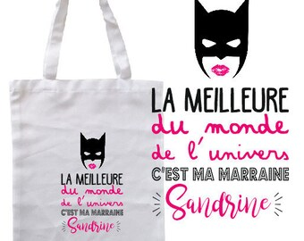 """TOTE BAG 100% cotton """"The best of the world of the universe..."""" personalized"""