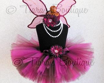 Autumn Rose Fairy Set - Custom Sewn Tutu and Autumn Pixie Wings - Tutu Costume, Perfect for Halloween and Fall Festivals,