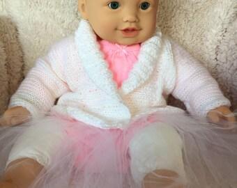 Baby Sweater, Baby Cardigan, White Sweater for Babies, Newborn Sweater