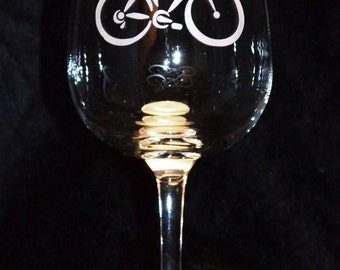 Bicycle Wine Glasses (Set of 2)