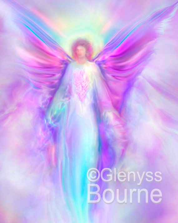 ARCHANGEL Raphael Guardian Angel Large Signed Giclee Print