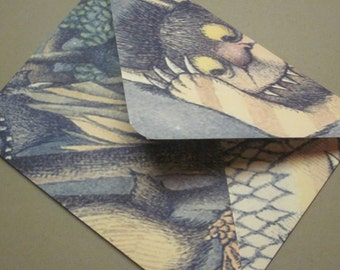 Where The Wild Things Are Handmade Envelopes - set of 15
