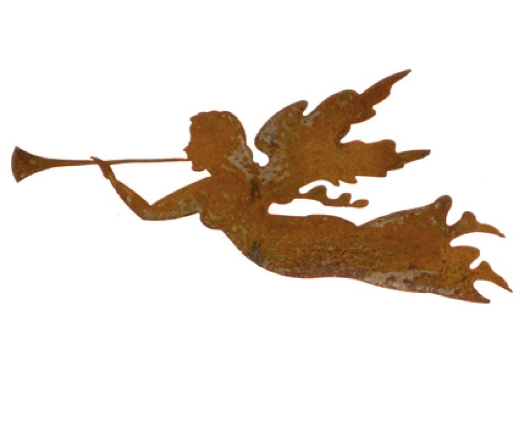 Angel Christmas Ornament Or Plant Stake Garden Rust