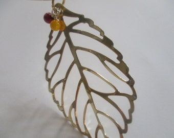 Autumn Leaf Choker Necklace Fall Leaf Necklace Gold Leaf Jewelry