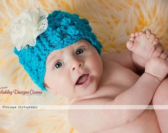 Crochet Pattern Gumdrops Beanie (Newborn - Adult) - PDF - Instant Digital Download