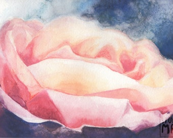 Romantic Rose Gouache Print