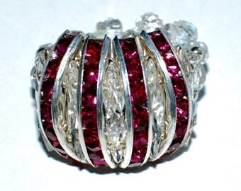 RING size 52 Swarovski Crystal rhinestone