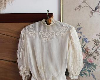 Victorian Blouse / Vintage Edwardian Blouse / XS S
