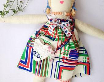 retro girl rag doll