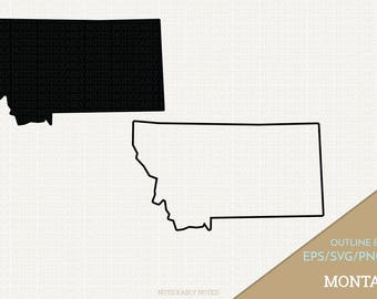Montana Vector, State Clipart, MT Clip Art, Montana SVG, State PNG  (Design 13731)