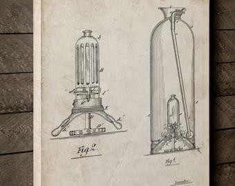 Antique Fire Extinguisher Patent Canvas Art, Fire Department Decor, Firefighter Baby, Fireman Gift, Canvas Wall Decor, PP0461