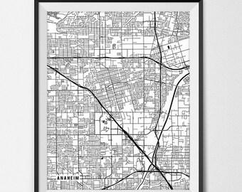 Anaheim map Etsy